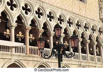 The Doge's Palace, Venice, Italy - Venetian gothic...