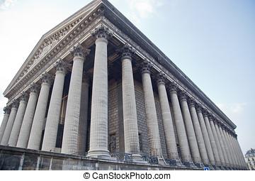 la, madeleine, chiesa, in, parigi, fran,