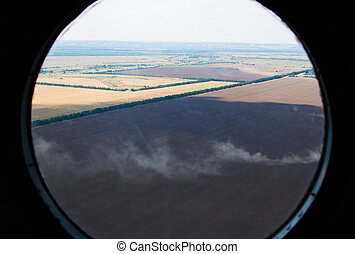 農地, 航空写真, 光景