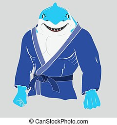 the judo man shark,eps 10 - the judo man shark,eps 10