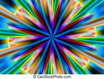 Bright multi-coloured background
