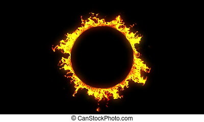 Beautiful Ring of Fire Looped. HD