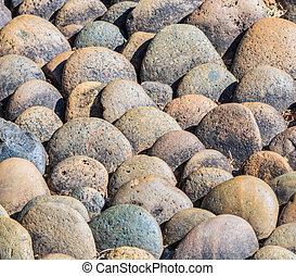 Sea stones and background stones