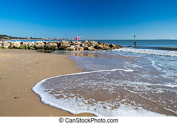 Sandbanks Beach Dorset - Beautiful golden sandy beach at...