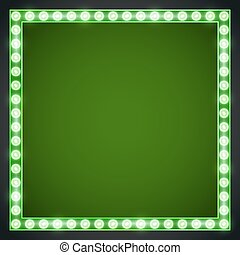 Frame lamp - Green rich colored vector retro looks frame...