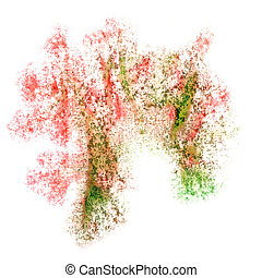 Abstract watercolor red,green,brown background for your...