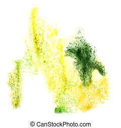 Abstract watercolor yellow,green background for your design insu
