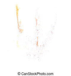 Abstract yellow watercolor background for your design insult...