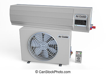 Air conditioner isolated on white background