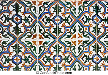 ceramic tiles wall decoration - Colorful vintage spanish...