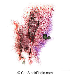 Abstract violet,brown watercolor background for your design...