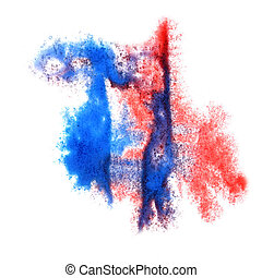Abstract red,dark blue  watercolor background for your design in