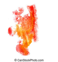 Abstract red,orange watercolor background for your design...