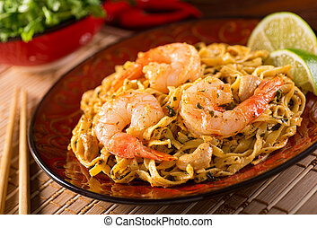 Pad Thai - A delicious pad thai noodles with shrimp.