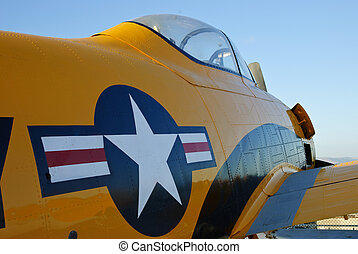 Restored WWII fighter - closeup details