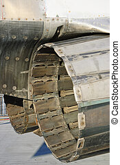 Closeup jet engines - detail of a vintage F4 military...