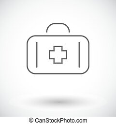 First aid Single flat icon on white background Vector...