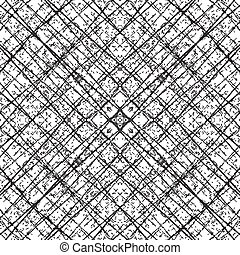 Fiber Grid Abstract Diagonale - Distress Diagonal Grid...