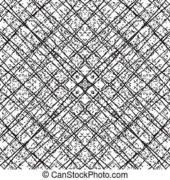 Fiber Grid Abstract Diagonale - Distress Diagonal Grid...