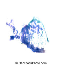 stain with watercolour blue, gray paint stroke watercolor...