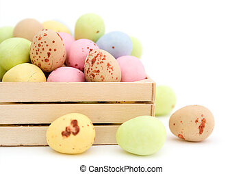 Easter egg chocolate candy - Pastel colour easter egg...