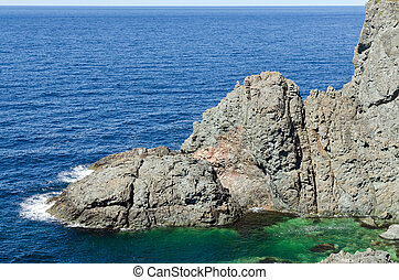 The shore of Newfoundland, Canada in sunny day