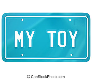 My Toy License Plate Car Collector Hobby Automobile...