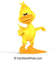 Toon Duck Quack - very funny toon duck with Clipping Path...