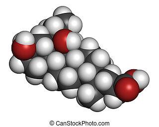 Obeticholic acid liver disease drug molecule Agonist of...