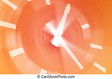 Busy clock - Clock with motion blur background