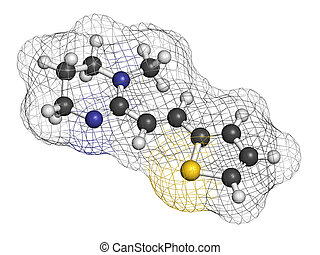 Pyrantel antinematodal drug molecule. Used to threat...