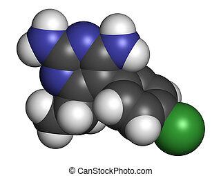 Pyrimethamine malaria drug molecule. Also used as an...