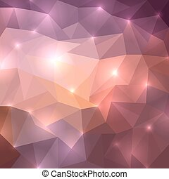 Polygonal shine background. Vector illustration for your...