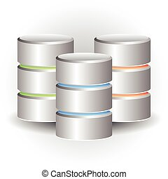 Cylinder Icons HDD, Webhosting Concepts Cylinder Icons HDD,...