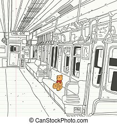 subway - Metros teddy bear