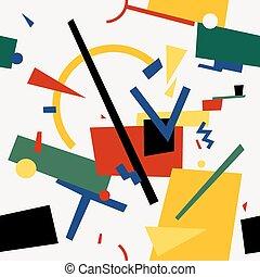 Seamless, Extracto, geométrico, colorfu,