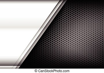Metallic steel and honeycomb element background texture...