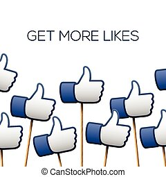 Like thumbs up symbols. Get more likes. - Like thumbs up...