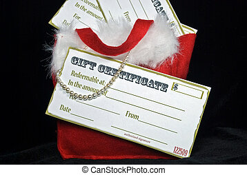 Fill In The Blank - Gift certificates and pearls in...