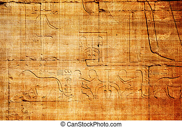old egypt hieroglyphs carved on the stone - old egypt...