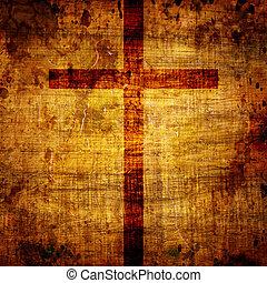 cristianesimo, rappresentazione, con, il, symbol, ,