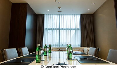 Interior of meeting room in hotel - Ready for meeting....