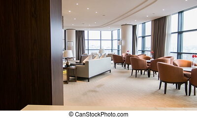 Interior of nice meeting room in hotel - : Luxury hotel...
