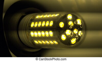 Led Light Corn Lamp Zooming with Flashing