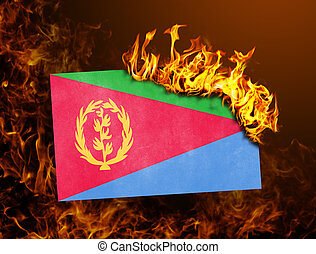 Flag burning - Eritrea - Flag burning - concept of war or...