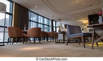 Interior of nice meeting room in hotel - Luxury hotel lobby....