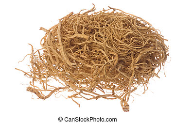 Ginseng Roots Macro Isolated - Isolated macro image of...