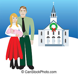 family4 - Vector Illustration of Family number 4 A family of...