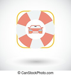 Roadside symbol - Roadside Single flat icon on white...