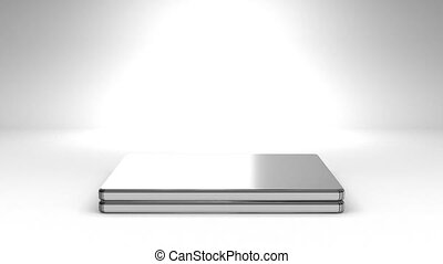 Laptop On White Background - Front View Of Laptop On White...